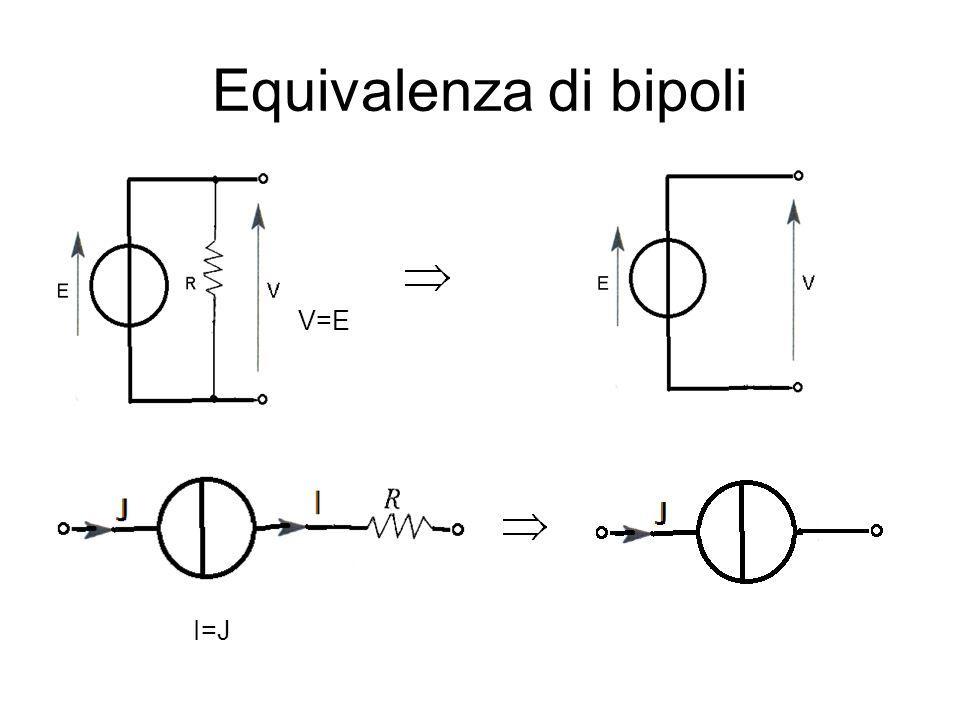 Equivalenza di bipoli V=E I=J