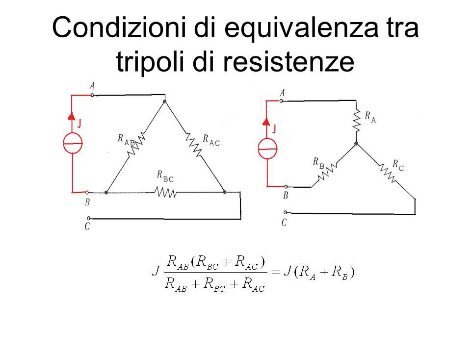 Condizioni di equivalenza tra tripoli di resistenze