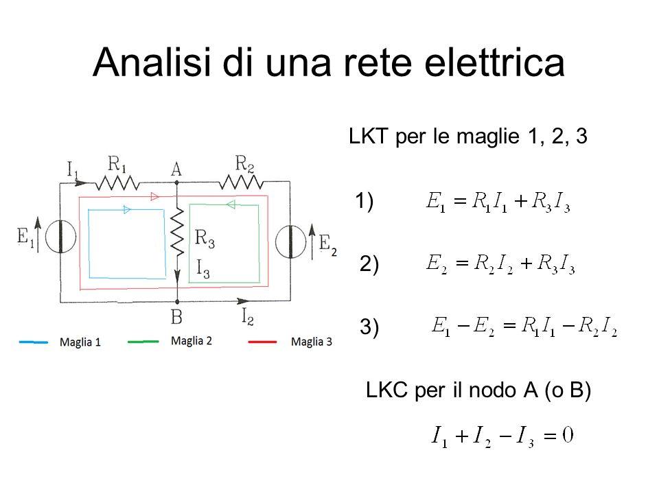 Analisi di una rete elettrica