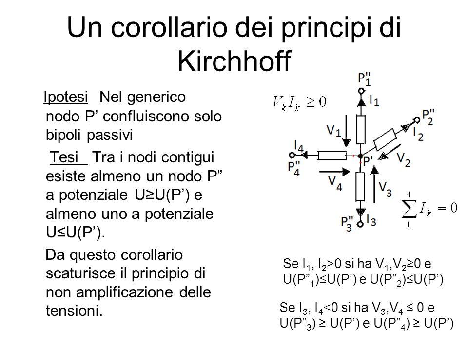 Un corollario dei principi di Kirchhoff
