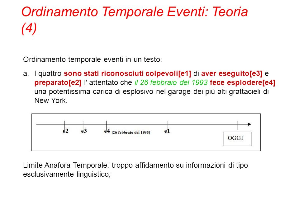 Ordinamento Temporale Eventi: Teoria (4)