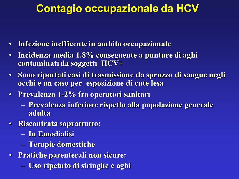 Contagio occupazionale da HCV