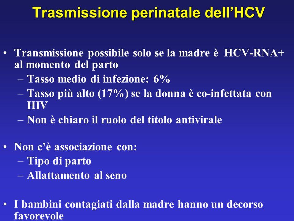 Trasmissione perinatale dell'HCV