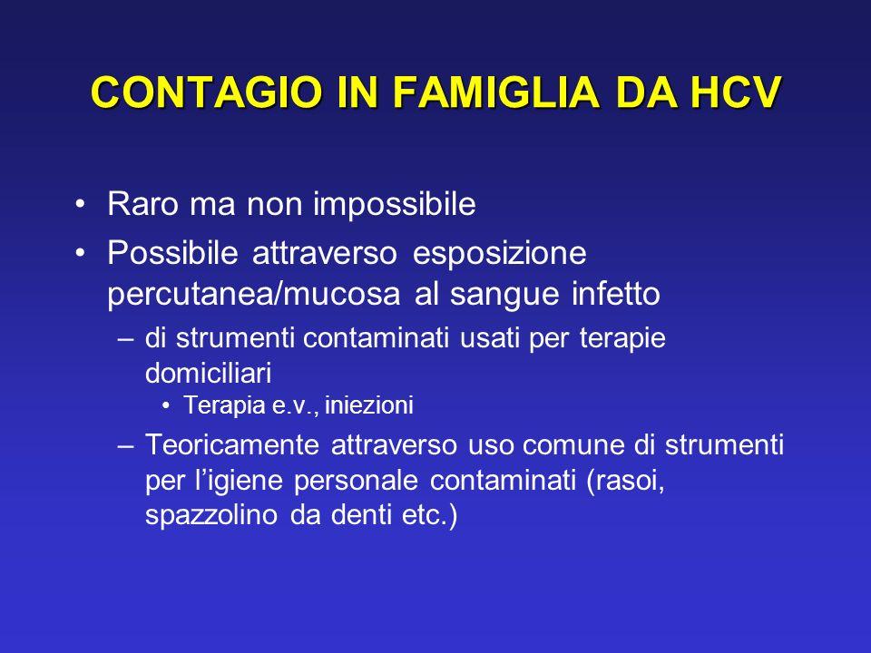 CONTAGIO IN FAMIGLIA DA HCV