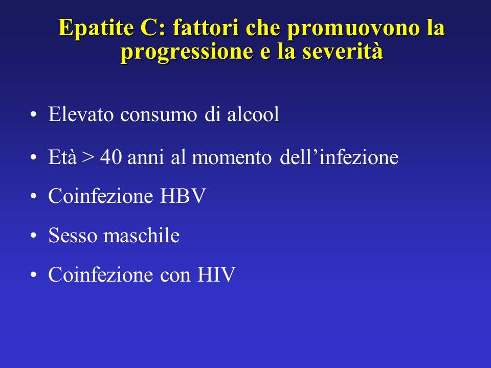 Epatite C: fattori che promuovono la progressione e la severità