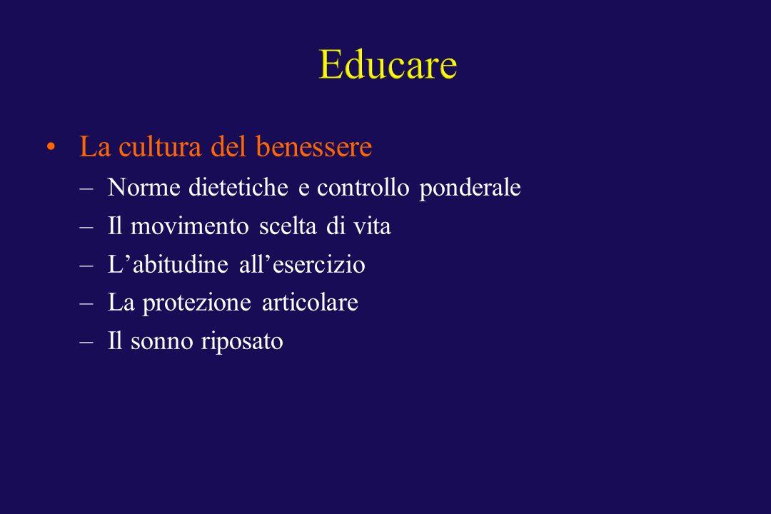 Educare La cultura del benessere