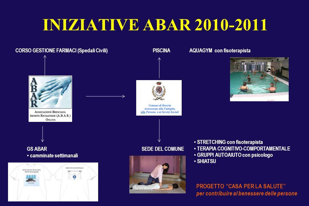INIZIATIVE ABAR 2010-2011 PROGETTO CASA PER LA SALUTE