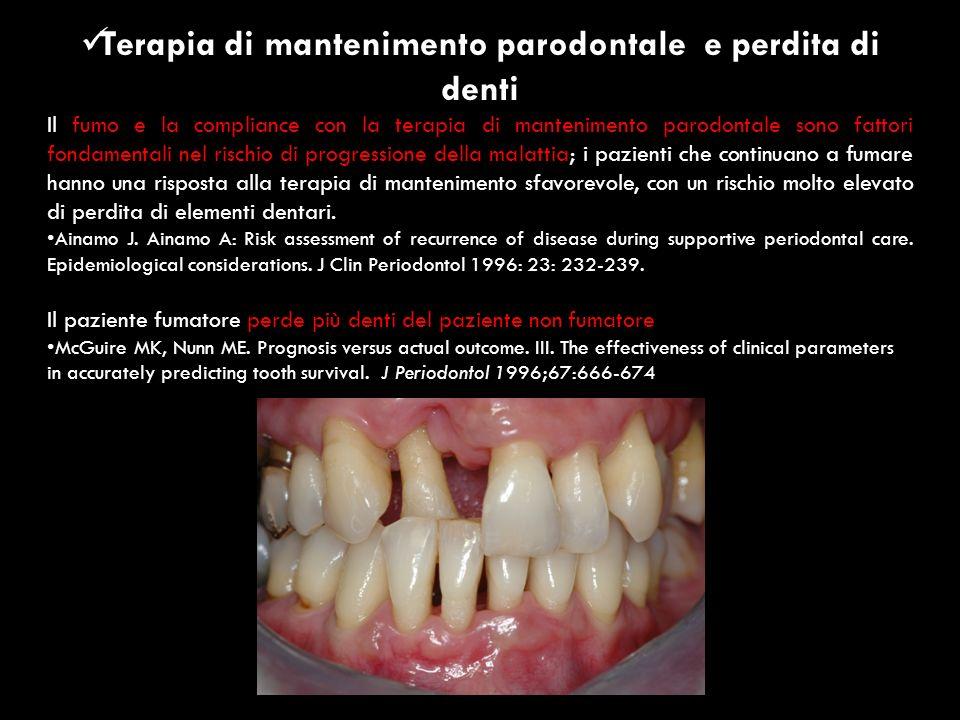 Terapia di mantenimento parodontale e perdita di denti