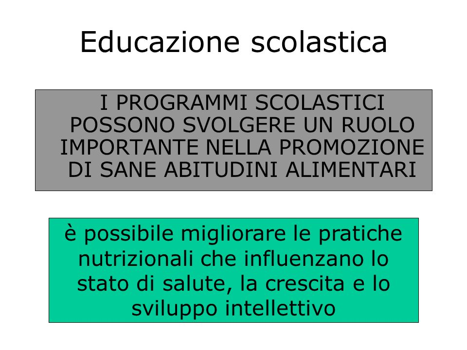 Educazione scolastica