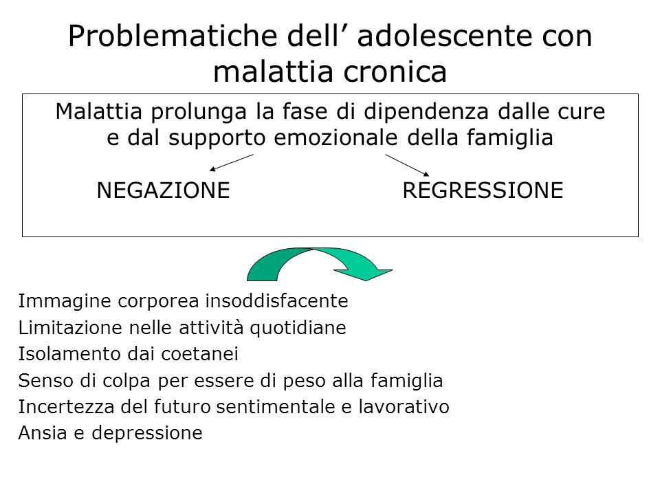 Problematiche dell' adolescente con malattia cronica