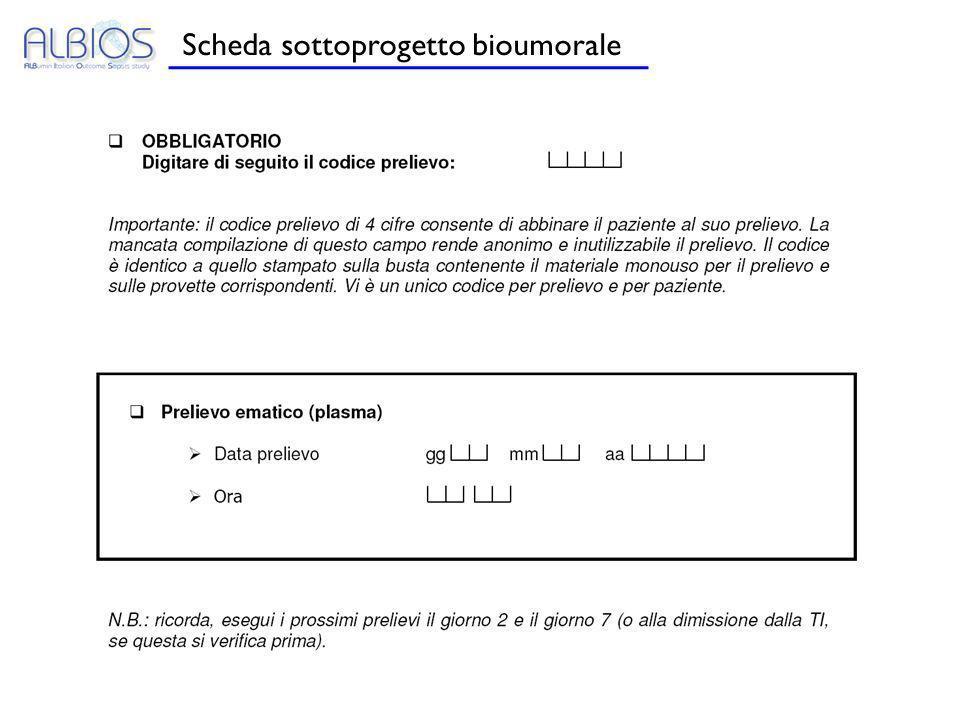 Scheda sottoprogetto bioumorale