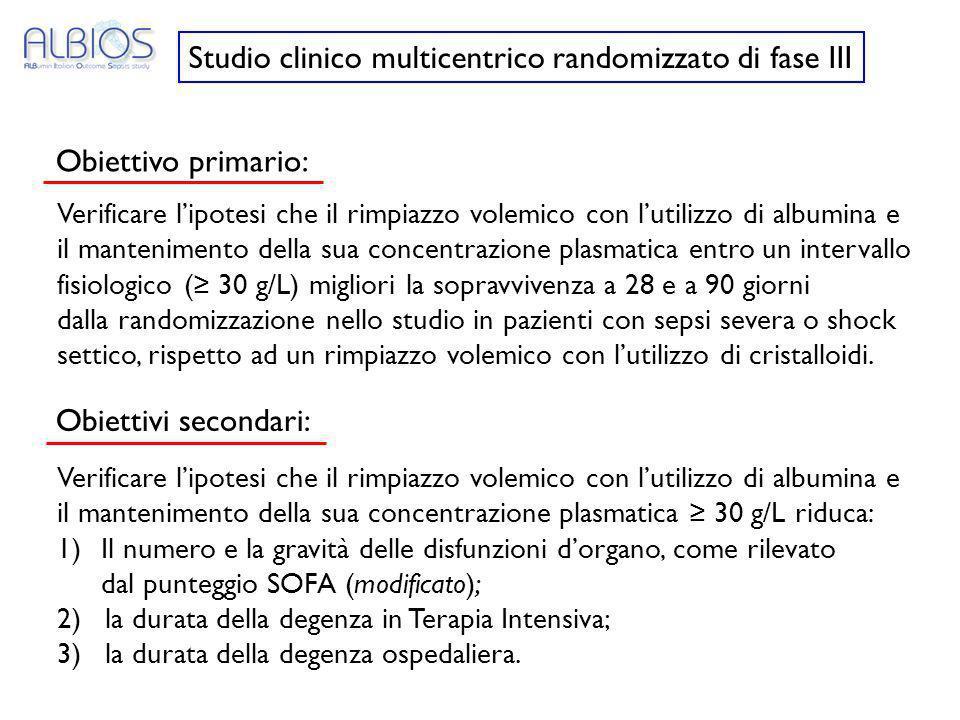 Studio clinico multicentrico randomizzato di fase III