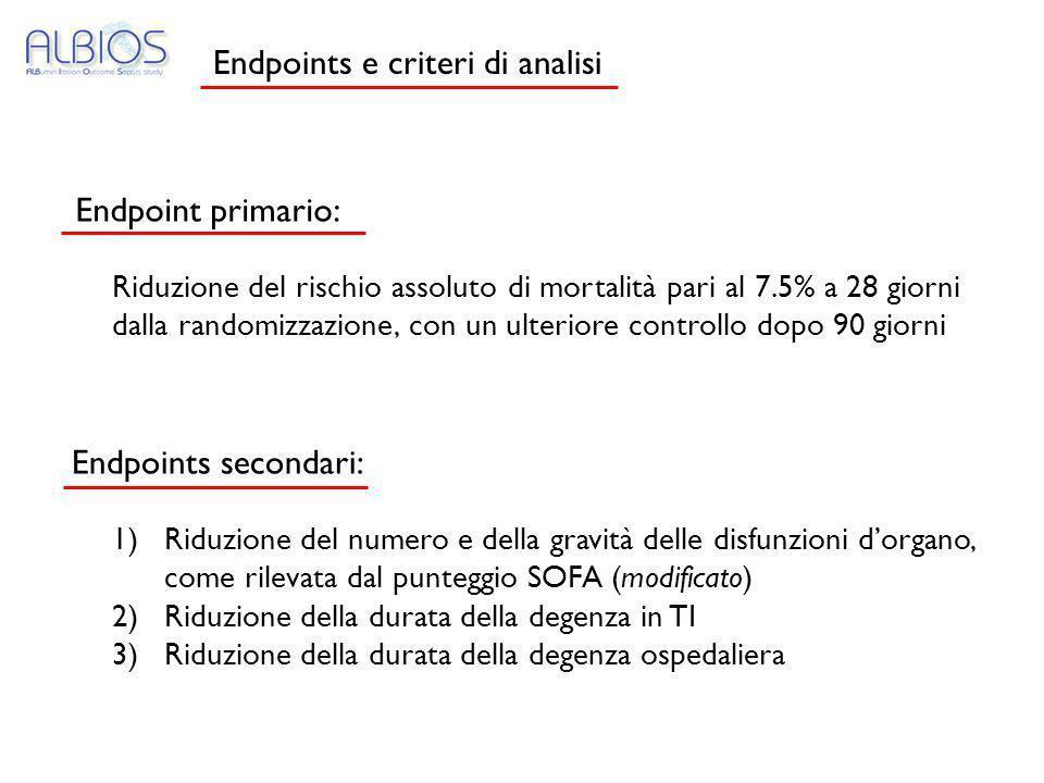 Endpoints e criteri di analisi