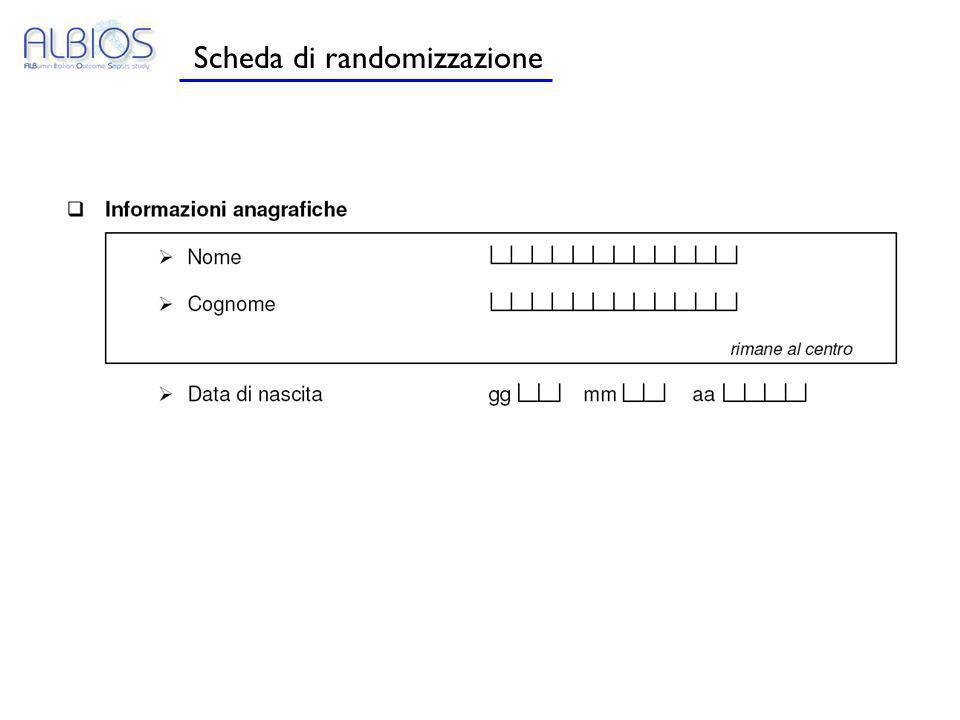 Scheda di randomizzazione