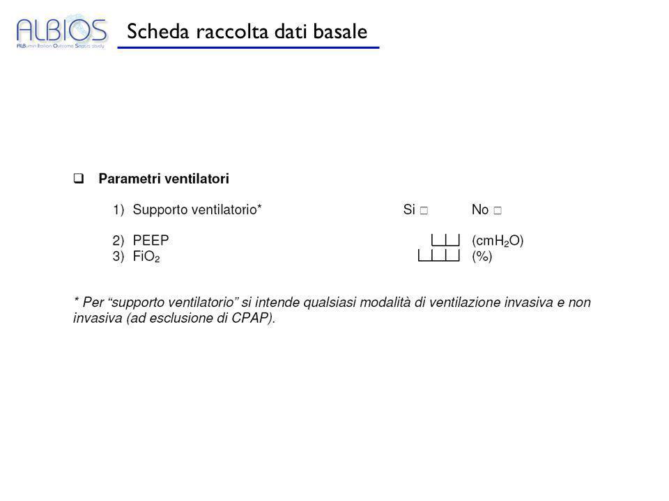 Scheda raccolta dati basale