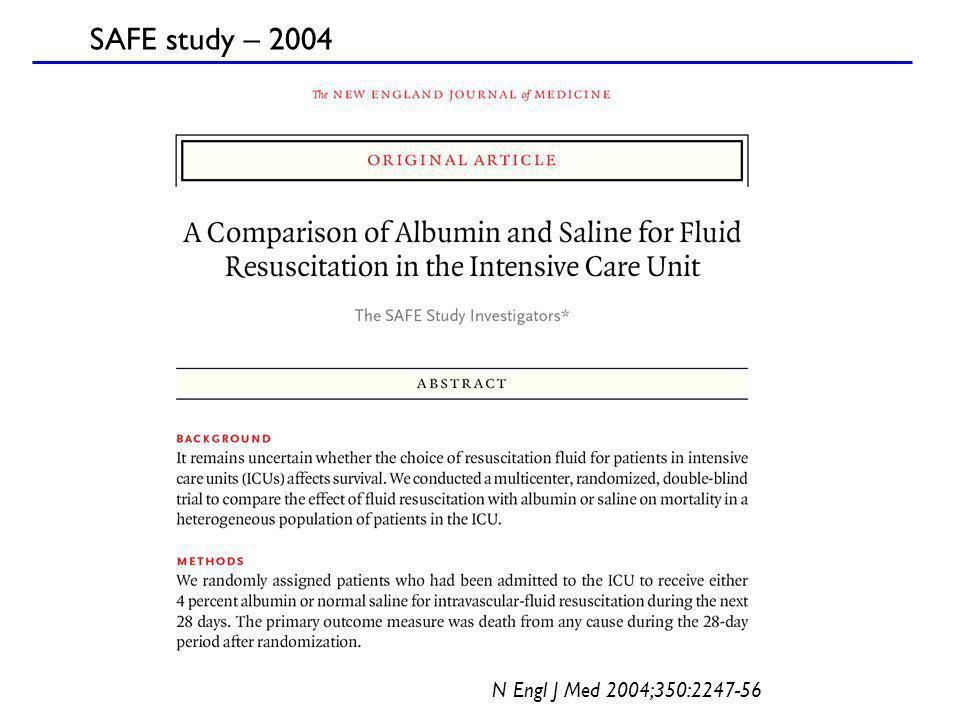 SAFE study – 2004 N Engl J Med 2004;350:2247-56