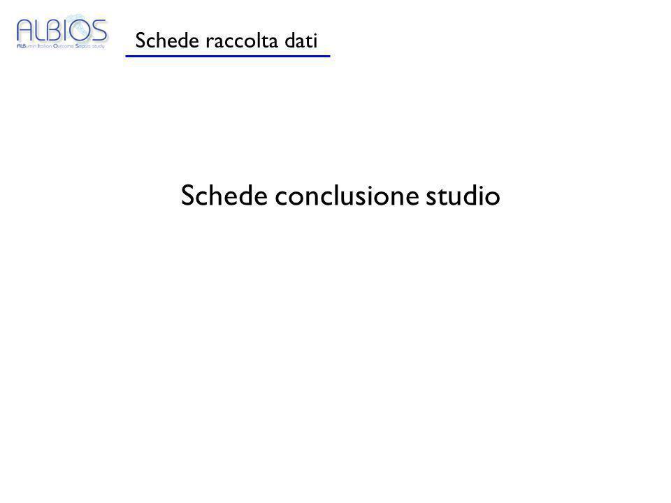 Schede conclusione studio