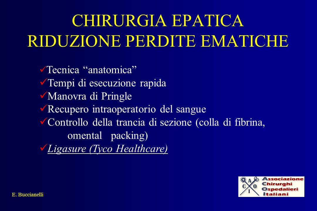 CHIRURGIA EPATICA RIDUZIONE PERDITE EMATICHE