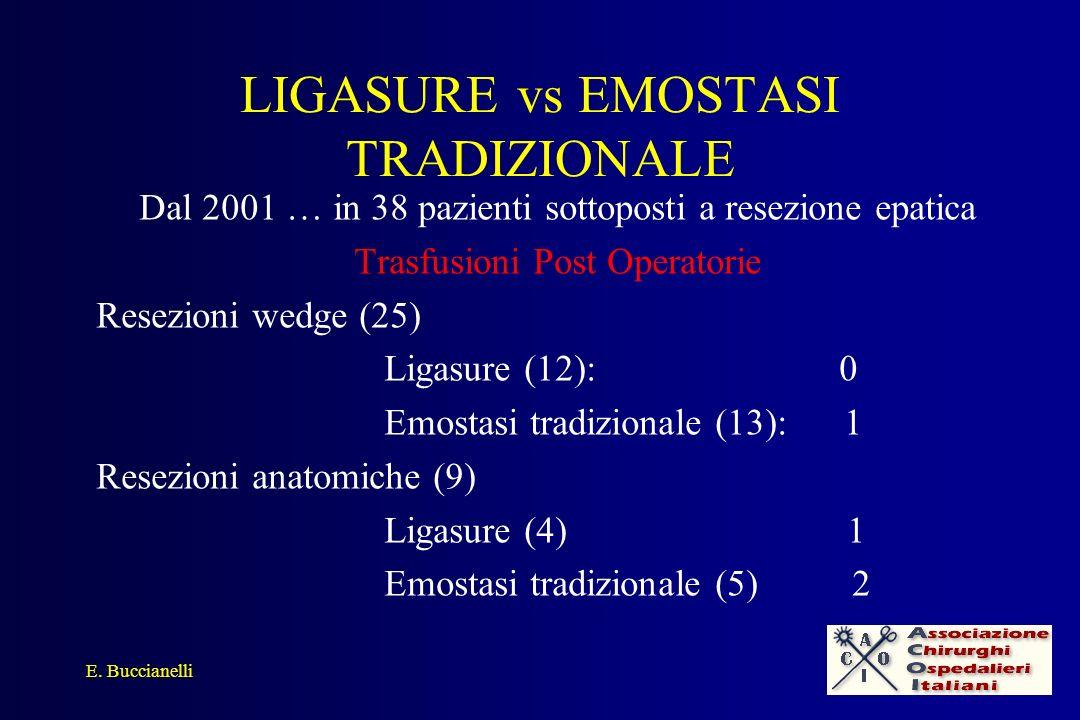 LIGASURE vs EMOSTASI TRADIZIONALE
