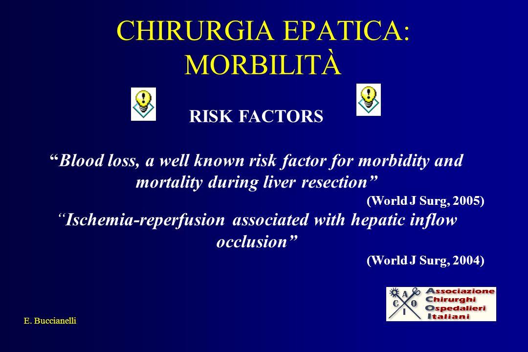 CHIRURGIA EPATICA: MORBILITÀ