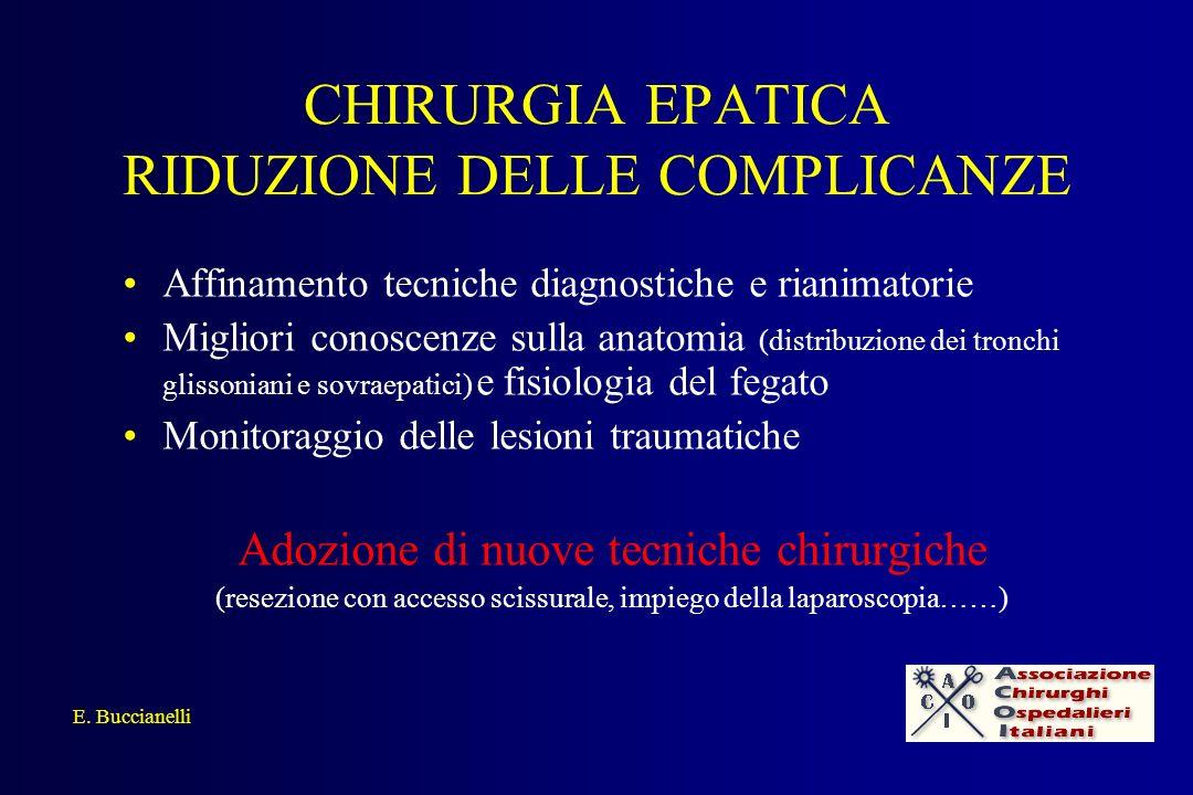 CHIRURGIA EPATICA RIDUZIONE DELLE COMPLICANZE