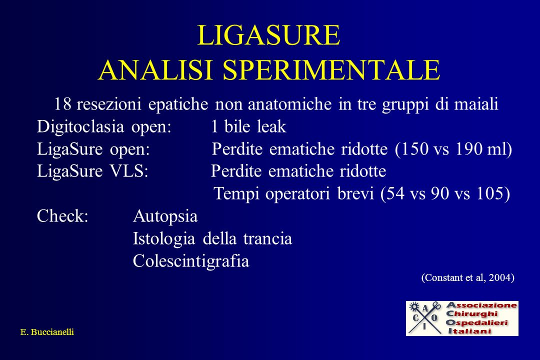 LIGASURE ANALISI SPERIMENTALE