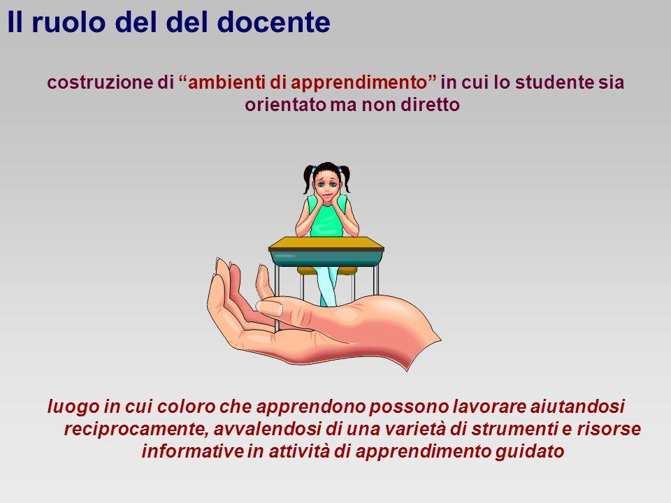 Il ruolo del del docente