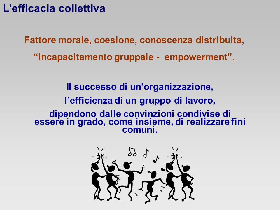 L'efficacia collettiva