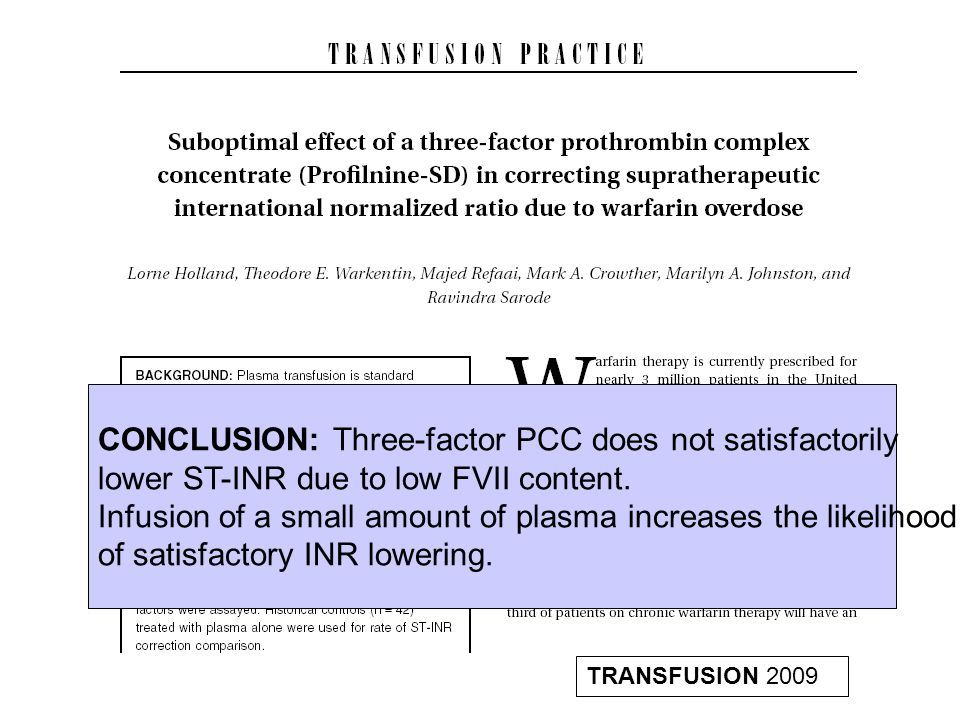 CONCLUSION: Three-factor PCC does not satisfactorily