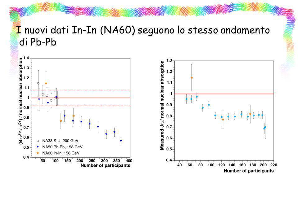 I nuovi dati In-In (NA60) seguono lo stesso andamento di Pb-Pb