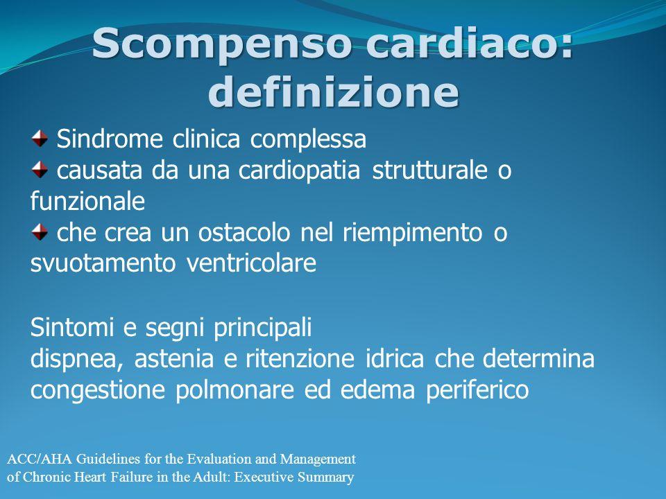 Scompenso cardiaco: definizione