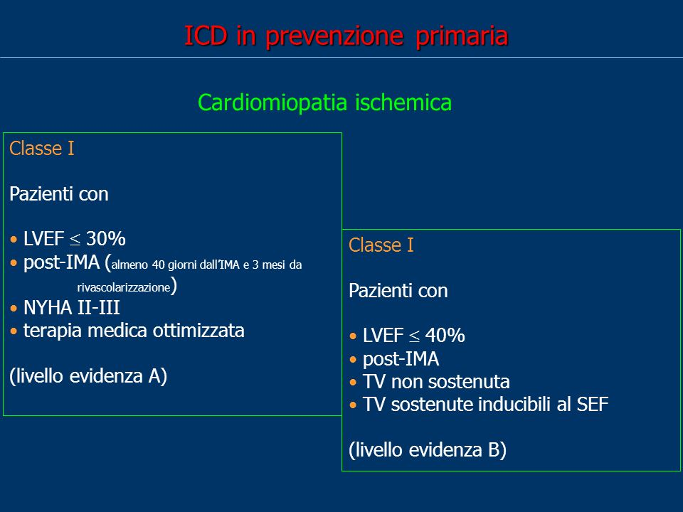 ICD in prevenzione primaria
