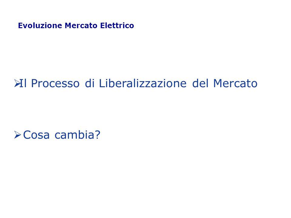 Il Processo di Liberalizzazione del Mercato