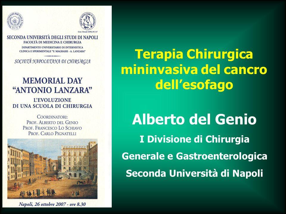 Terapia Chirurgica mininvasiva del cancro dell'esofago
