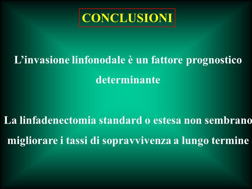 L'invasione linfonodale è un fattore prognostico determinante