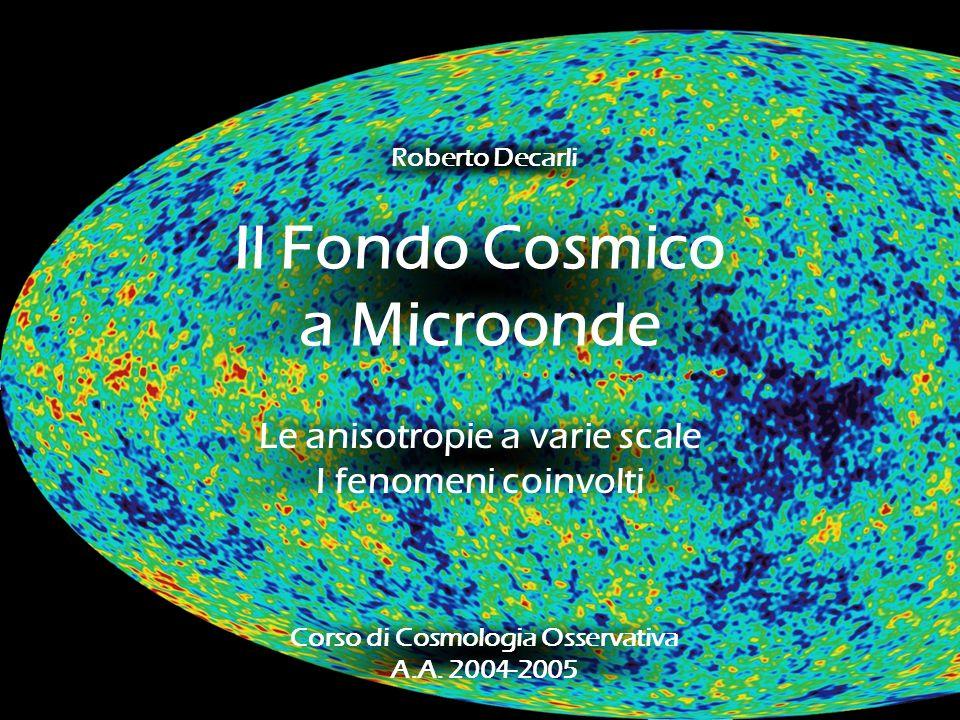 Il Fondo Cosmico a Microonde