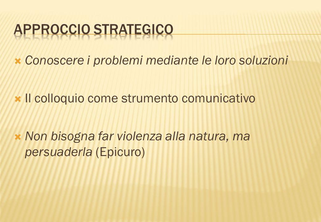 Approccio strategico Conoscere i problemi mediante le loro soluzioni