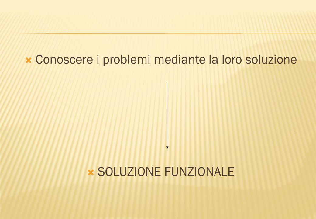 Conoscere i problemi mediante la loro soluzione