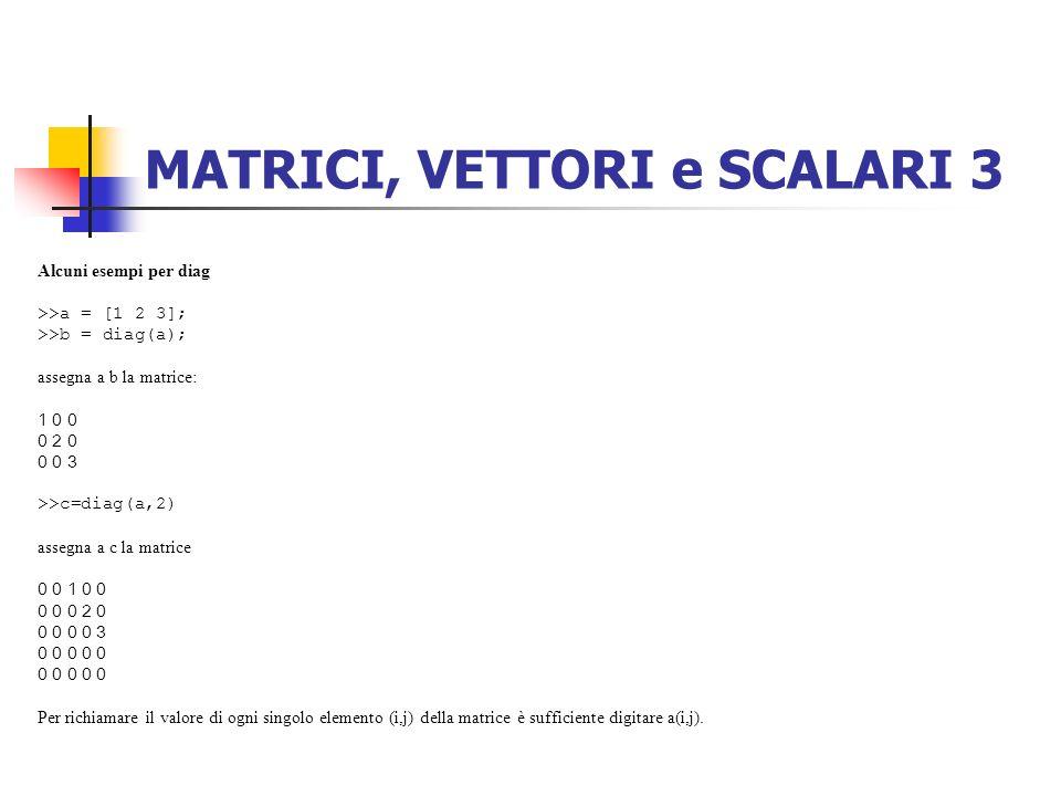 MATRICI, VETTORI e SCALARI 3