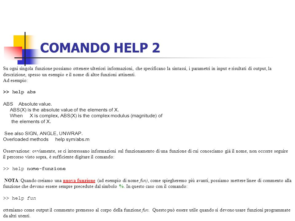 COMANDO HELP 2