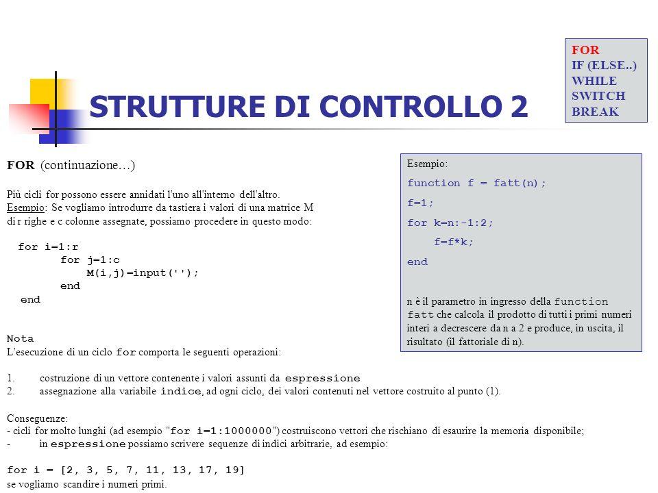 STRUTTURE DI CONTROLLO 2