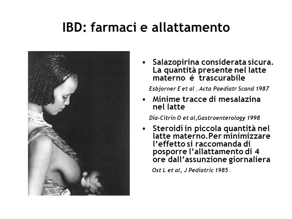 IBD: farmaci e allattamento