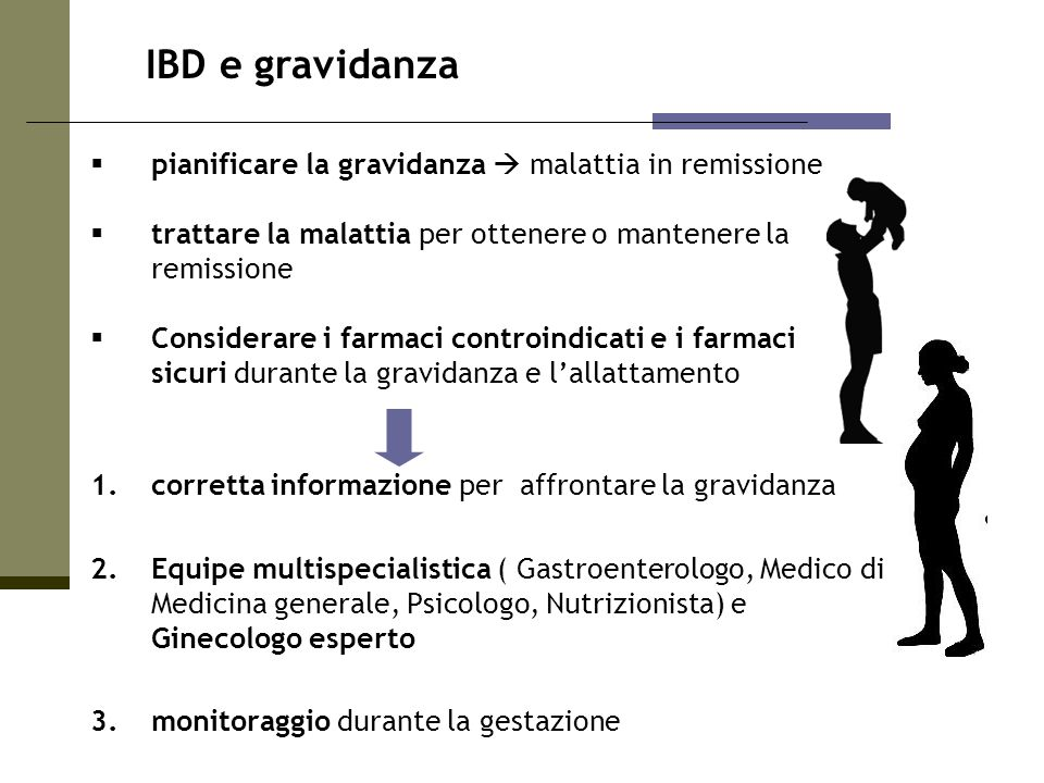 IBD e gravidanza pianificare la gravidanza  malattia in remissione