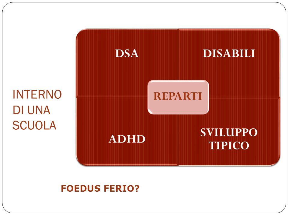 INTERNO DI UNA SCUOLA FOEDUS FERIO REPARTI DSA DISABILI ADHD
