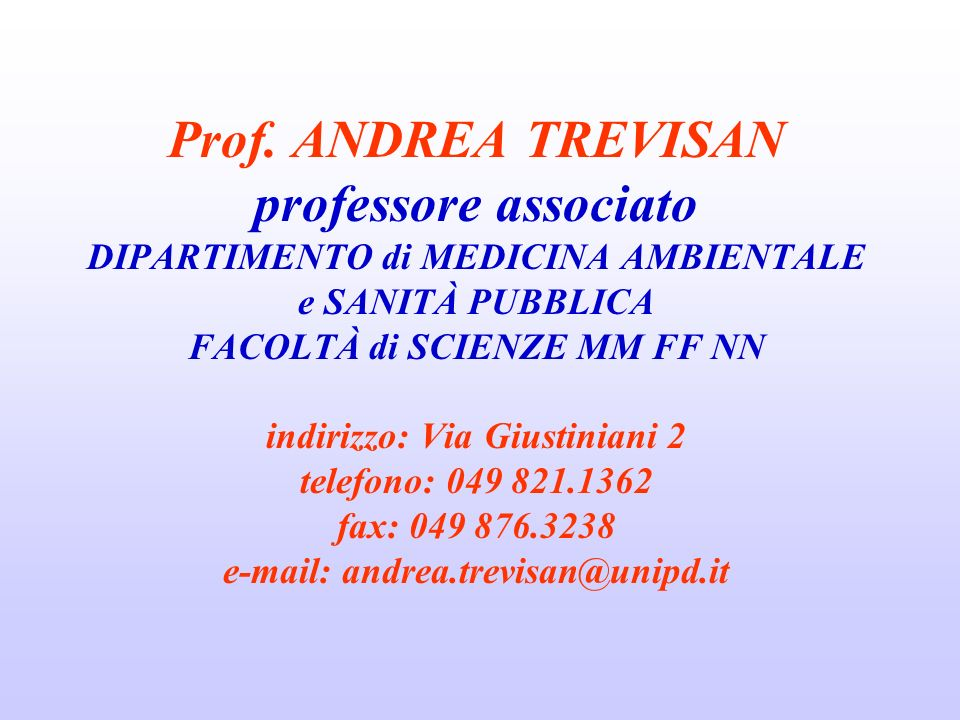 introduzione al corso: rischi da agenti chimici, fisici e biologici