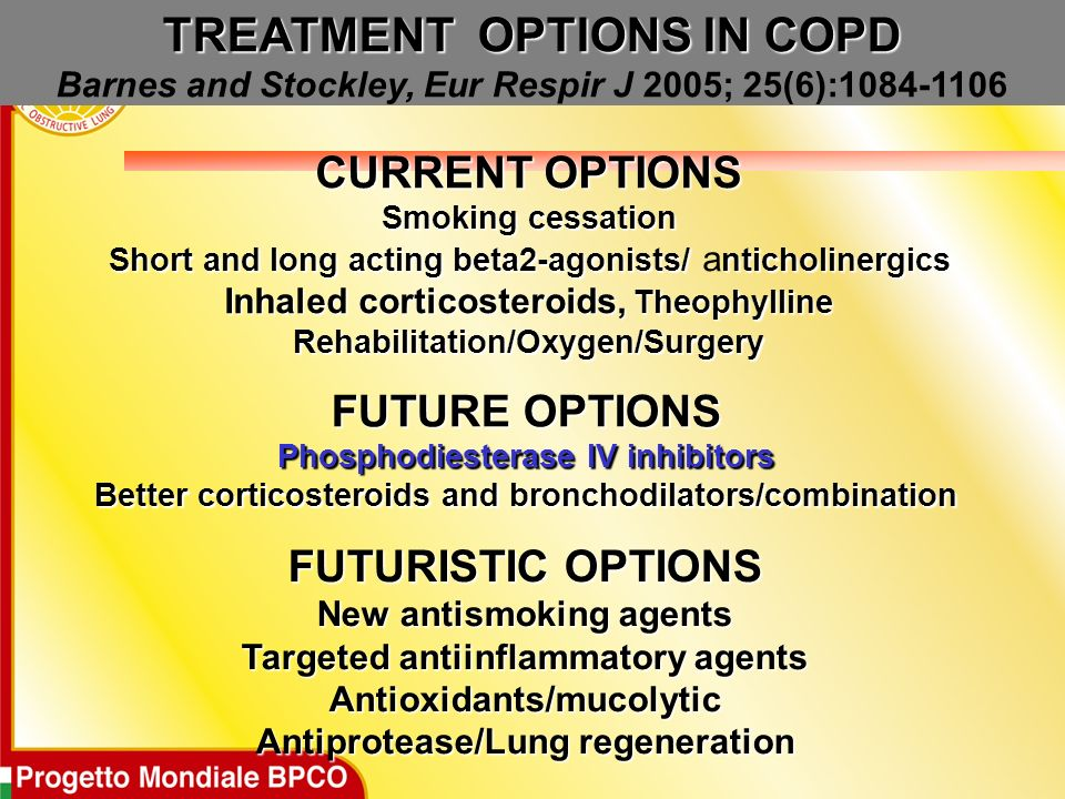 TREATMENT OPTIONS IN COPD