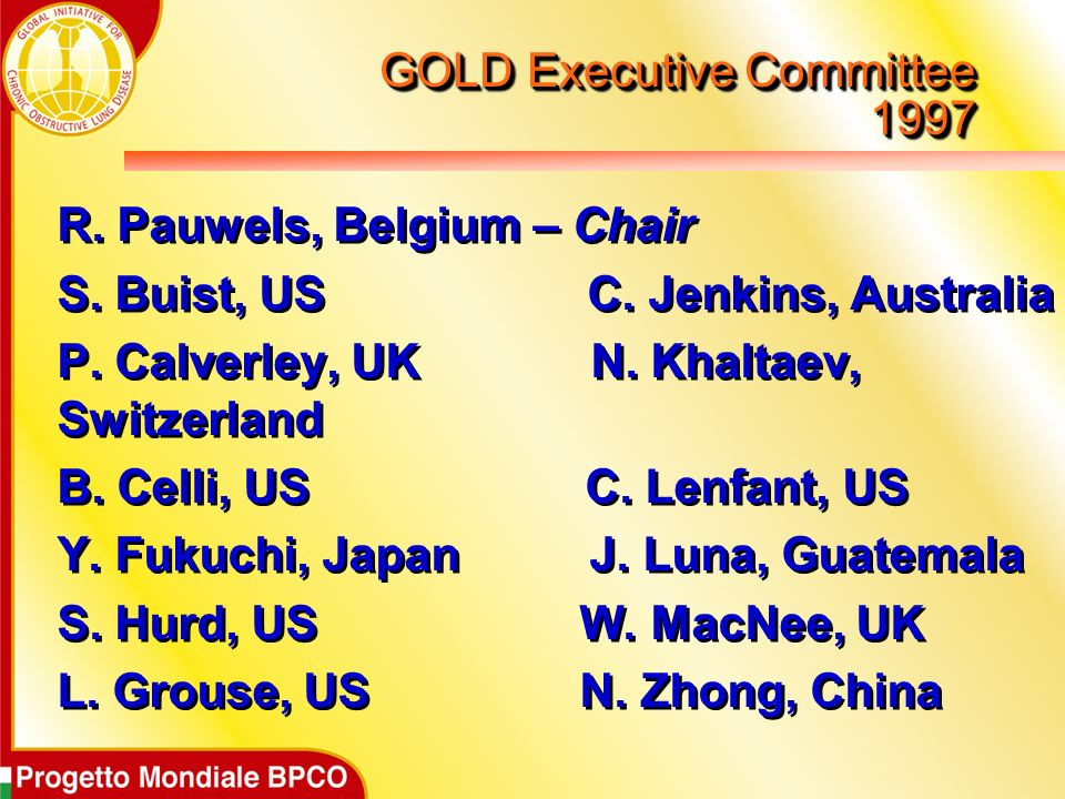 GOLD Executive Committee 1997