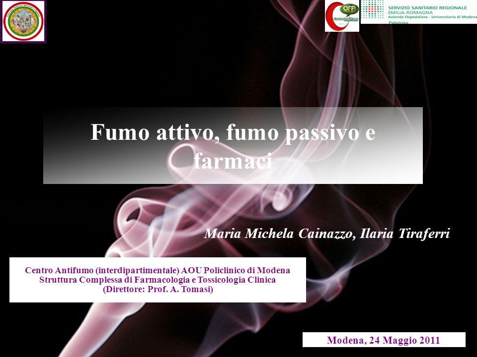 Fumo attivo, fumo passivo e farmaci