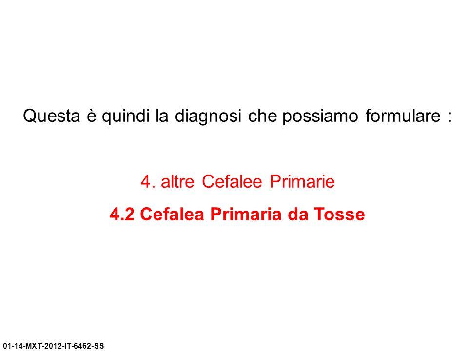 4.2 Cefalea Primaria da Tosse