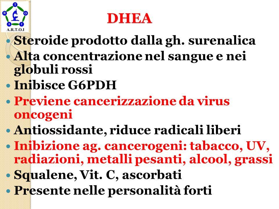 DHEA Steroide prodotto dalla gh. surenalica
